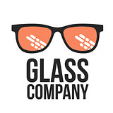 Retro and modern style glasses logo set