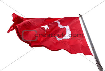 Flag of Turkey waving in wind day