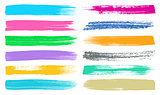 Big vector brush strokes collection