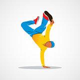 Breakdance silhouette man