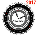 Creative idea of design a Clock with circular calendar