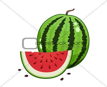 Watermelon and watermelon slice