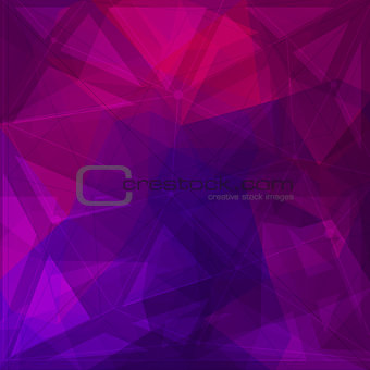 Abstract low poly geometric background with triangles
