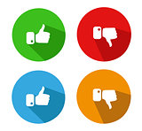Modern Thumbs Up and Thumbs Down Icons