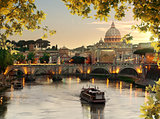 Bridge of Saint Angelo in Rome