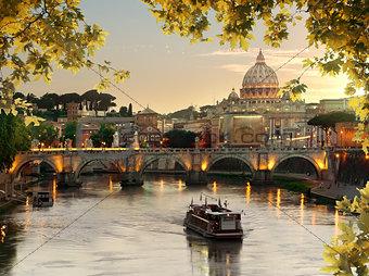 Bridge of Saint Angelo in Rome