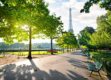Sunny morning in Paris