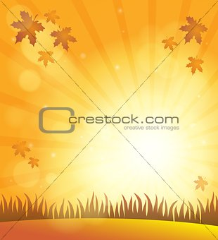 Autumn sky theme background 6