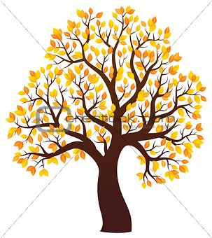 Autumn tree theme image 3