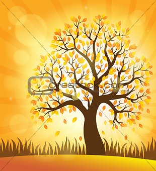 Autumn tree theme image 4