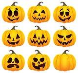 Halloween pumpkins theme set 1