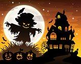 Halloween scarecrow silhouette theme 2