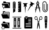 stationery icons set