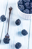 Blackberries on the table