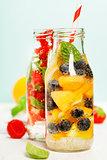 Detox fruit infused flavored water