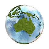 Australia on planet Earth