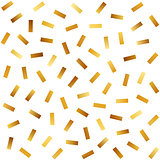 Vector Seamless Golden Jumble Lines Pattern