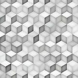 Vector Seamless Greyscale Shades Gradient Rhombus Grid Geometric Pattern
