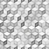 Vector Seamless Greyscale Shades Gradient Rhombus Grid Geometric Pattern