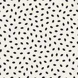 Vector Seamless Black and White Ellipse Shape Jumble Pattern