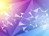 Abstract polygon geometric background. Vector and illustration