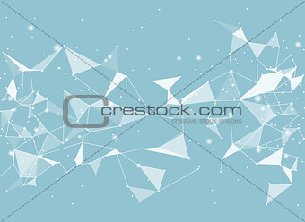 Abstract black vector background, low poly style. Triangular