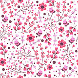 seamless pattern with hand drawn leaves and flowers. Vintage set for invitations. save the date cards and other design.