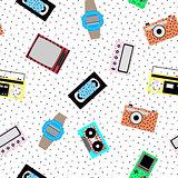 Memphis hipster pattern - seamless.