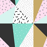 Vector abstract seamless geometric pattern.