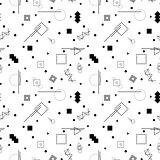 Vector abstract memphis pattern.