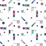 Seamless pattern with color geometric shapes.