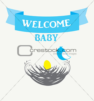 baby shower bird nest