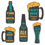 Vintage craft beer brewery emblems
