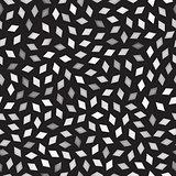 Vector Seamless Greyscale Rhombus Jumble Pattern