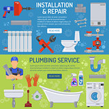Plumbing Service Banners