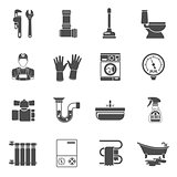 Plumbing Service Icons Set