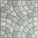 Gray Paving Slabs - Pattern of circle.