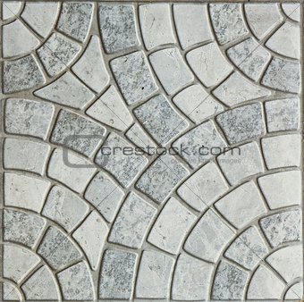 Gray Paving Slabs - Pattern of circle.