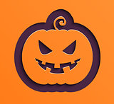Happy Halloween paper pumpkin.