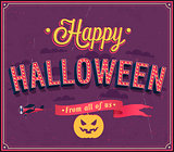 Happy Halloween typographic design.