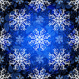 Seamless dark blue christmas pattern