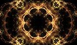 fractal gold vintage pattern