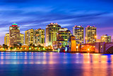 West Palm Beach Florida Skyline