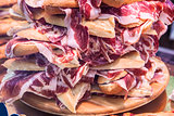 Pile of spanish bocadillos