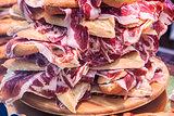 Pile of spanish bocadillos