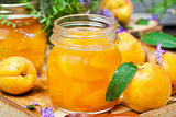 Delicious homemade apricot jam