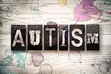 Autism Concept Metal Letterpress Type