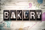 Bakery Concept Metal Letterpress Type