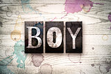 Boy Concept Metal Letterpress Type