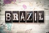 Brazil Concept Metal Letterpress Type